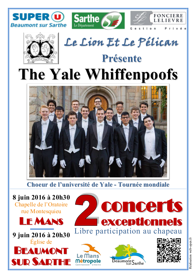 THE YALE WHIFFENPOOFS 2016