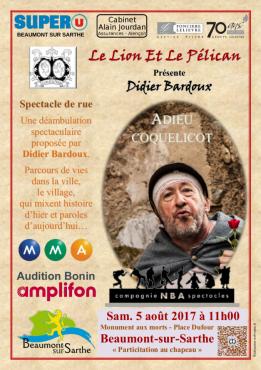 Alpes mancelles activités présente Adieu coquelicot - Didier Bardoux le 2017-08-05 11:00:00