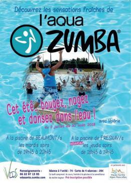 Alpes mancelles activités présente : Aqua Zumba à Beaumont-sur-Sarthe le 2018-08-28 19:45:00 - 2018-08-28 20:45:00