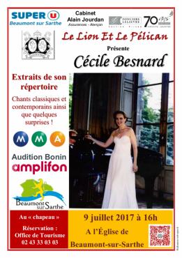 Alpes mancelles activités présente Cécile Besnard en concert à Beaumont-sur-Sarthe le 2017-07-09 16:00:00