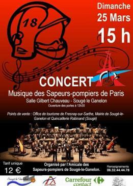 Alpes mancelles activités présente : Concert des Sapeurs Pompiers de Paris le 2018-03-25 15:00:00