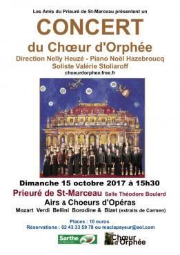 Alpes mancelles activités présente : CONCERT du Choeur d'Orphée le 2017-10-15 15:30:00 - 2017-10-15 17:00:00