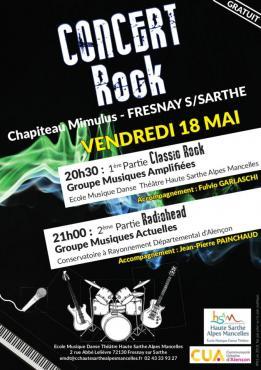 Alpes mancelles activités présente : Concert Rock le 2018-05-18 20:30:00 - 2018-05-18 22:30:00