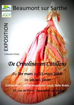 Alpes mancelles activités présente : De Crinolines en Cotillons le 2018-03-01 14:30:00 - 2018-03-11 18:30:00