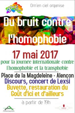 Alpes mancelles activités présente Du bruit contre l'homophobie le 2017-05-17 17:00:00 - 2017-05-17 20:00:00