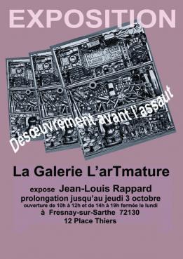 Alpes mancelles activités présente : Exposition Jean-Louis Rappard le 2019-08-11 10:00:00 - 2019-10-03 19:00:00