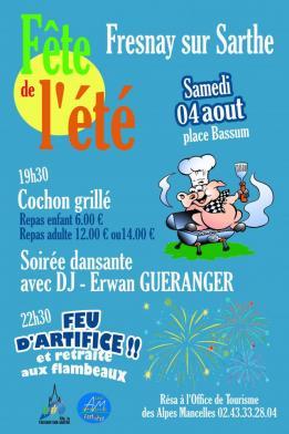 Alpes mancelles activités présente : Fête de l'été 2018 à Fresnay-sur-Sarthe le 2018-08-04 19:30:00 - 2018-08-05 00:00:00
