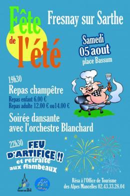 Alpes mancelles activités présente Fête de l'été à Fresnay-sur-Sarthe le 2017-08-05 19:30:00 - 2017-08-05 23:59:00
