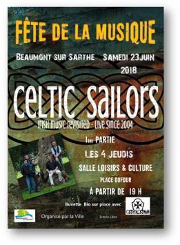 Alpes mancelles activités présente : Fête de la musique 2018 à Beaumont-sur-Sarthe le 2018-06-23 19:00:00 - 2018-06-23 23:59:00