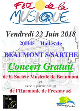 Alpes mancelles activités présente : Fête de la musique 2018 à Beaumont-sur-Sarthe le 2018-06-22 20:30:00 - 2018-06-22 23:00:00