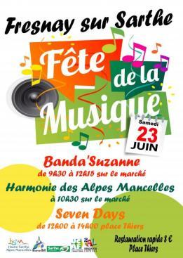 Alpes mancelles activités présente : Fête de la Musique 2018 à Fresnay-sur-Sarthe le 2018-06-23 09:30:00 - 2018-06-23 14:00:00