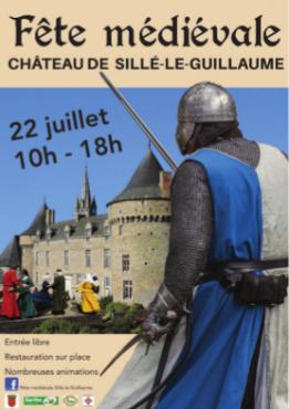Alpes mancelles activités présente : Fête médiévale à Sillé-le-Guillaume 2018 le 2018-07-22 10:00:00 - 2018-07-22 18:00:00
