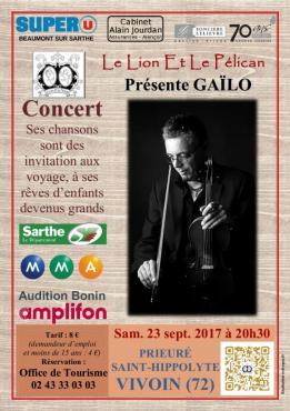 Alpes mancelles activités présente : Gaïlo le 2017-09-23 20:30:00 - 2017-09-23 22:00:00