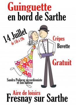 Alpes mancelles activités présente : Guinguette en bord de Sarthe le 2018-07-14 14:00:00 - 2018-07-14 19:00:00