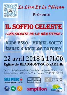 Alpes mancelles activités présente : Il Soffio Celeste le 2018-04-22 17:00:00 - 2018-04-22 18:30:00