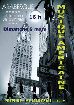 Alpes mancelles activités présente LE QUINTETTE DE CUIVRES ARABESQUE le 2017-03-05 15:00:00