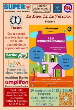 Alpes mancelles activités présente : Les copropriétaires - Théâtre le 2018-09-29 20:30:00 - 2018-09-29 22:00:00
