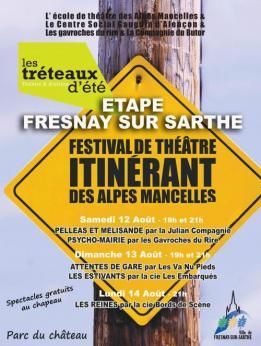 Alpes mancelles activités présente Les tréteaux d'été 2017 le 2017-08-12 19:00:00 - 2017-08-12 23:00:00