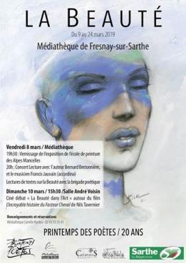 Alpes mancelles activités présente : Printemps des poètes le 2019-03-08 09:00:00 - 2019-03-24 20:00:00