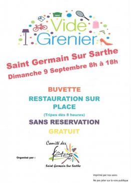 Alpes mancelles activités présente : Vide Grenier 2018 à Saint-Germain-sur-Sarthe le 2018-09-09 08:00:00 - 2018-09-09 18:00:00