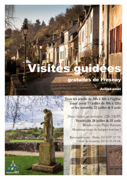 Alpes mancelles activités présente Visite guidée de Fresnay nocturne le 2017-07-28 22:00:00 - 2017-07-28 23:30:00