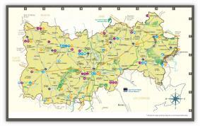 Carte Pays de la Haute Mayenne