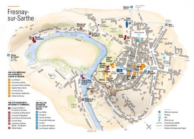 Alpes mancelles activités : Nouveau parcours de découverte de Fresnay-sur-Sarthe - FRESNAY-SUR-SARTHE - cartes & plans, culture & patrimoine