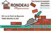 Rondeau-Maconnerie -  sur Alpes mancelles activités - maçonnerie, démolition, rénovation